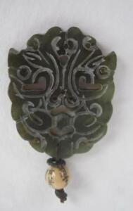 Vintage Jade Translucent Green Carved Pendant W Bead 18gm Jewelry China 1 5 X2