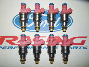 Ford Racing 4 6 5 0 Mustang 21 Lb Pound Pink Top Fuel Injectors Set 8 Oem