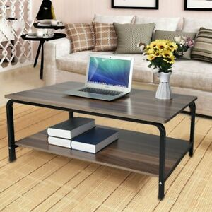 Wood Computer Desk Pc Laptop Study Tea Table Workstation Home Office Furniture