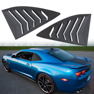 Abs Quarter Side Window Louvers Scoop Cover For 2010 2015 Chevy Chevrolet Camaro