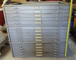 Flat File Map Cabinets Blueprint Drafting Photo Artists
