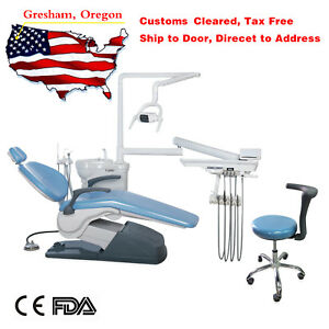 Dental Chair Unit Computer Control Hard Leather Fda Doctor Stool 110v Electric