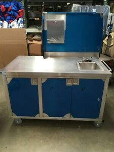 New Elkay Portable Washing Demonstration Sink Self Contained W Water Heater