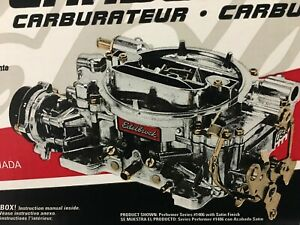 Edelbrock 1406 Performer Series 600 Cfm 4 Barrel Carburetor Electric Choke Satin