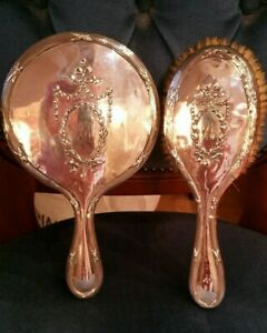 Solid Silver Dressing Table Vanity Set Edwardian 1907 1908 Heavy Magnificent