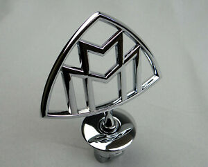 Mercedes benz Maybach Style Hood Ornament Badge Sign Logo Chrome W222 S Class