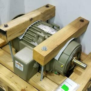G e 15 Hp 1800 Rpm Tefc 460 Volts 254tcv Frame Footless 3 Phase Motor M9508
