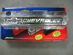Small Block Chevy 1958 86 polished Aluminum Valve Covers Proform 141 920