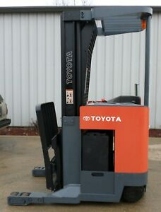 Toyota Model 6bru18 2005 3500 Lbs Capacity Great Reach Electric Forklift