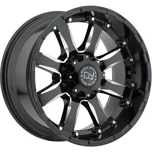 17x9 Black Black Rhino Sierra 5x5 12 Wheels Deegan 38 At 285 70 17 Tires