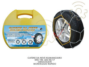 Snow Chains Kilimangiaro Kns 100 225 50 17 Homologated Mounting Quick
