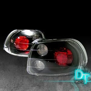 For Black 1993 1997 Honda Civic Del Sol Jdm Tail Lights Brake Lamps Left Right