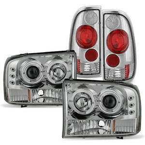 1999 2004 Ford F250 F350 Sd Superduty Led Halo Projector Headlights tail Lights