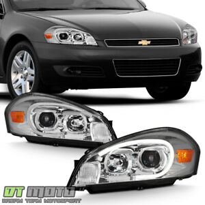 2006 2013 Chevy Impala Led Tube Projector Headlights Headlamps Left Right 06 13