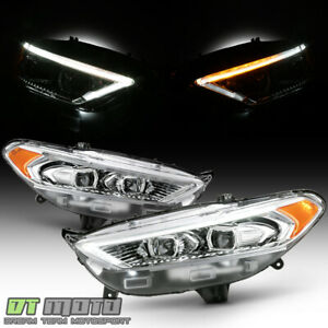 2013 2016 Ford Fusion Led Drl Switchback Signal Headlights Headlamps Left Right
