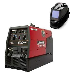 Lincoln Ranger 250 Gxt Welder Generator And 3350 Helmet Bundle k2382 4 3034 3