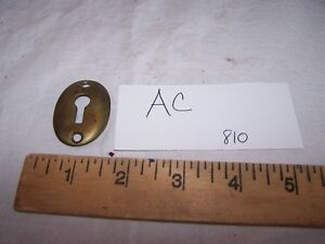 Vintage Antique Brass Key Hole Cover Escutcheon Marked 810 Lot Ac