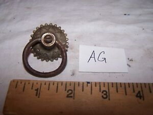 Vintage Antique Ring Pull With Brass Back Plate Lot Ag