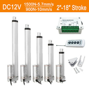 12v 2 18 Inch Linear Actuator 1500n 330lbs Electric Motor For Auto Lift