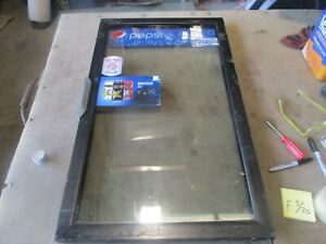 Used Replacement Glass Door For Qbd Beverage Cooler 33 75 x20 Decent