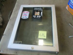 Used Replacement Glass Door For Starbucks Beverage Cooler 23 75 x18 75 Decent