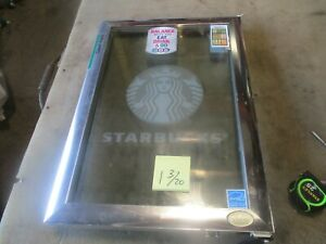 Used Replacement Glass Door Idw Gs 2 5 n13eb Starbucks Beverage Cooler 26x18