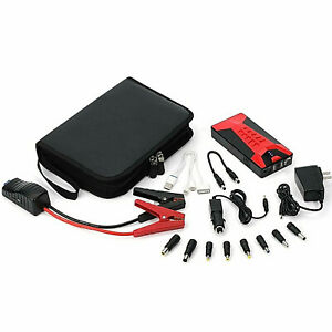 Portable Battery Jump Starter Auto Charger Motorcycle Car Booster New