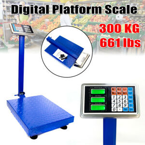 Heavy Duty 300kg 660lb Weight Computing Digital Floor Postal Platform Scale