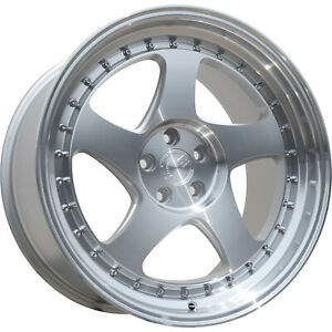 16x8 Silver Aodhan Ah01 Wheels 4x100 4x4 5 15 Fits Ford Mustang 4 Lug Only