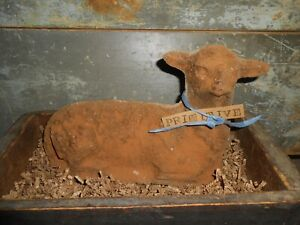 Grungy Primitive Lamb Cake For Easter Decorating