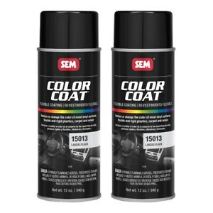 Sem 15013 Color Coat Landau Black Vinyl Spray Paint 12 Oz Aerosol 2 Cans