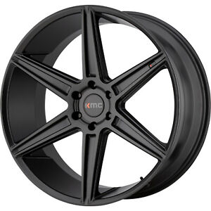 22x9 5 Black Kmc Km712 prism Truck Wheels 6x135 30 Fits Ford Expedition