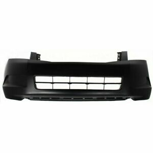 Front Bumper Cover For 2008 2010 Honda Accord 4cyl Sedan Primed Plastic Capa