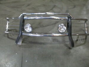 Aftermarket Front Chrome Grill Guard W Fog Lights For 01 2001 Gmc Suburban