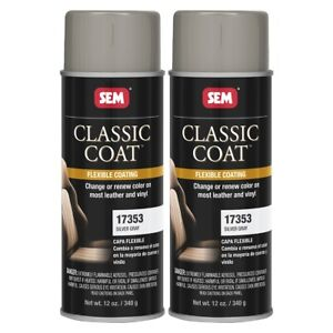Sem 17353 Classic Coat Silver Gray For Interior Vinyl Leather 12 Oz 2 Cans