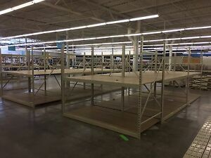 Madix Wide Span Rack Shelving Used Wood Shelves Warehouse Fixtures Liquidation