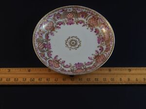 Fine As Frog Hair Antique Chinese Export Yongzhen Famille Rose Saucer Dish 1735