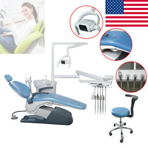 Dental Unit Chair Computer Controlled Integral Complete W stool Fda Ce Approved