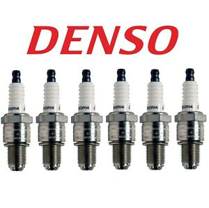 Set Of 6 Spark Plugs Gap 0 055 Denso 3104 For Mazda Rx 7 1981 1985 1 1l R2