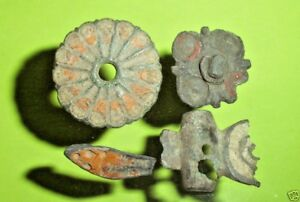 Ancient Roman Enameled Jewelry Old Enamel Lot Sandal Brooch Fibula Collection Ae