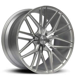 4 new 22 Staggered Road Force Wheels Rf13 Silver Machined Rims Nib