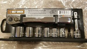 Snap On Tools Harley Davidson 8 Piece Socket Ratchet Set Sportster Flh Road King