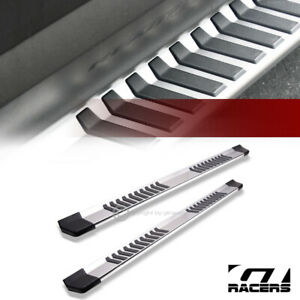 For 2007 2018 Chevy Silverado Extended Cab 6 Silver Oe Aluminum Running Boards