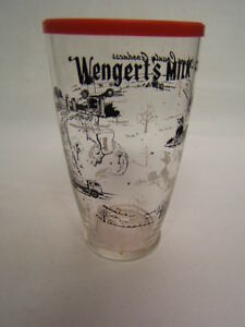 Wengert's Milk Lebanon PA Milk Container Glass w/ lid