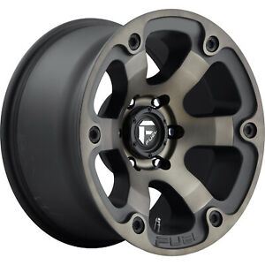 Fuel Beast D564 17x9 6x139 7 6x5 5 12mm Black Machined With Dark Tint Wheels