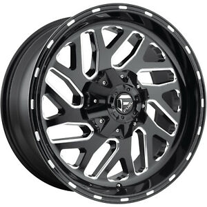 20x10 Black Milled Fuel Triton 6x135 6x5 5 18 Wheels Open Country Mt 35 Tires