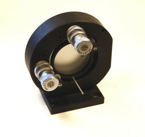 Melles Griot 2 Optics Precision Gimbal Mount W Differential Micrometers