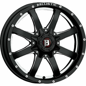 20x9 Black Wheel Ballistic Anvil 955 6x135 6x5 5