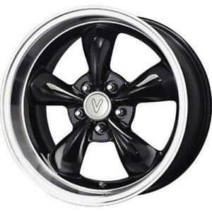 17x9 Black Voxx Replicas Ford Mustang Bullet Wheels 5x4 5 24 Fits G35