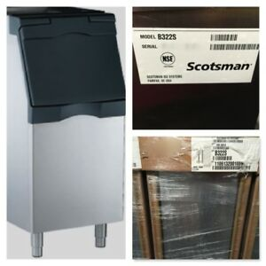 Scotsman B322s Storage Ice Bin 370lb Capacity 22 wx34 dx50 h Stainless Maker